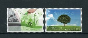 Gibraltar 2016 MNH Europa Think Green 2v Set Bicycles Trees Stamps