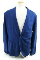 J. Crew Ludlow NWT $350 Men's Sport Coat Unstructured Size 46R Cotton Linen Blue