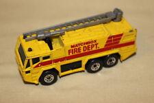 Matchbox Fire Dept Fire Ladder Truck Yellow