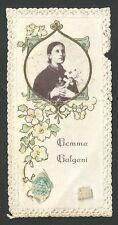 Holy card relics antque de Santa Gema Galgani santino reliquia estampa