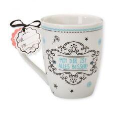 SHEEPWORLD Lieblingstasse Mit dir ist alles besser Tasse Trinkbecher Kaffeetasse
