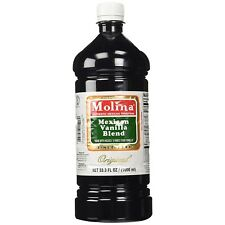 Vanilla Extract Pure Real Mexican Molina Best 33.3 Oz / 1000 Ml