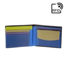 DuDu Portafoglio in pelle RFID uomo Woods Multicolore classico con portamonete