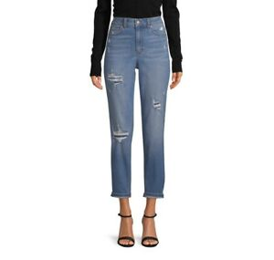 No Boundaries Juniors Distressed Mom Jeans NWT Size 9