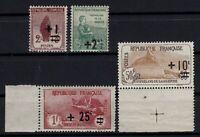 D129258/ FRANCE / ORPHANS / Y&T # 162 – 163 – 167 - 168 MINT MNH - CV 163 $