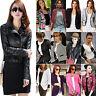 Women Slim Fit Casual Business Office Blazer Suit Bomber Jacket Coat Outwear Top