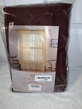 2 Piece Sheer Voile Rod Pocket Window Panel Curtain Drapes Red Embroidery Sheer