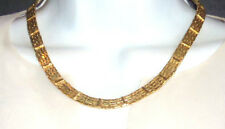 VINTAGE GOLDPLATED HEAVY CHAIN NECKLACE & BRACELET SET ESTATE JEWELRY SO PRETTY!