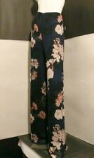 Zara Floral Printed Trousers With Side Vent Size S UK 10