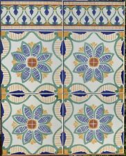 "20 Mediterranean Spanish  Portuguese Kitchen Backsplash Ceramic Tiles -8""/8"""