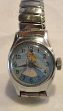 Vintage 1950s Alice In Wonderland Us Time Mechanical Watch - For Parts or Repair