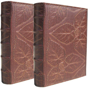 Photo Album 4x6 Each Holds 200 Photos, PU Leather Cover Old Brown 2 Pack