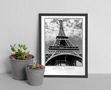Vintage Retro Eiffel Tower Paris, Wall Art,Travel poster Paris
