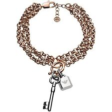 Emporio Armani Bracelet EGS2575221 Stainless Steel Colour: Rose Gold/Silver New