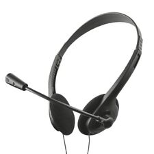 Slim Light Weight Stereo Headset Headphones With Microphone For PC Laptop Skype