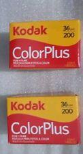 2 ROLLS. KODAK COLORPLUS 36EXP/200, 35mm Color Film. Exp.Date:09/2016.