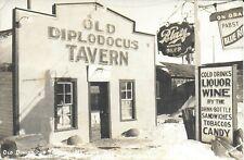 Rppc of Old Diplodocus Tavern in Medicine Bow Wyoming 1943