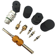 R134a Air Conditioning Automotive Valve Core A/C System Caps Kits W/Remover Tool
