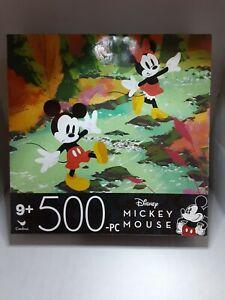 Disney 500 Piece Mickey & Minnie Mouse puzzle Cardinal 11 X 14