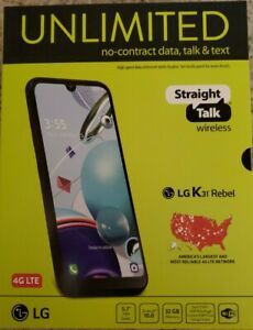 Brand New - LG K31 Rebel - 32GB Black STRAIGHT TALK Smartphone NIB