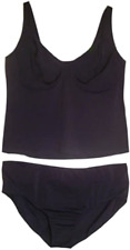 Navy Blue Underwired Tankini Set UK Plus Dress Size 30 & B Cups No Padding