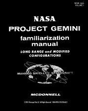 NASA PROJECT GEMINI SPACE CAPSULE FLIGHT MANUAL BOOK