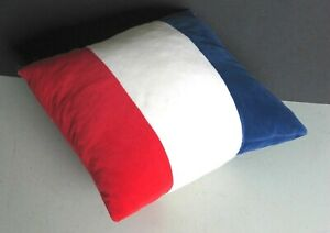 "Velour Fabric Pillow 15.5"" Soft Red White Blue Patriotic Colors FREE SH"