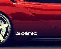 2x Seitenaufkleber Aufkleber Passt Renault Scenic Sticker Emblem Logo ER83