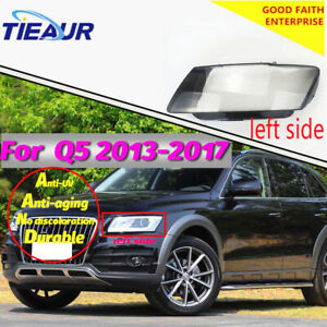 Headlight Lens Cover Headlamp Clear Glass Shell For Audi Q5 2013-2017 Right&Left