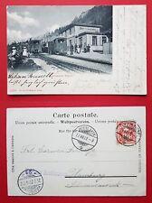 AK BREITLAUENEN Schweiz 1902 Bahnhof mit Kleinbahn  ( 31612