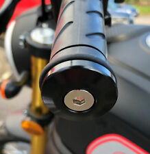 Motorcycle Bike Handlebar Bar End Weights Universal Scooter Black Alloy 22mm LP