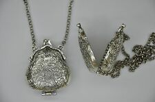 NEW Large Ornate Purse Locket Pendant Necklace accessories Retro Pinup