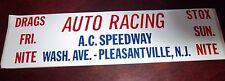 AUTO RACING A.C. Speedway  Racing  Bumper Sticker
