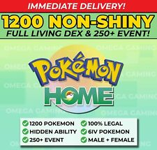 Pokemon Home FULL Gen 1-7 NON SHINY Living Dex | 250+ Event, ALL Legendary, 6IV