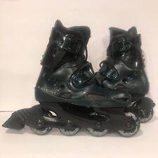 BladeRunner Journey Inline Skates Black & Blue Rollerblade 72mm Wheels Size 7