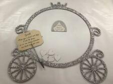 Disney Princess Cinderella Pumpkin Carriage Argent Paillettes Mariage Boîte De Dépôt