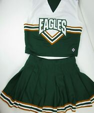 EAGLES Cheerleader Uniform Outfit Costumes Sizes 32 Top X 26 Skirt or 36 x 26