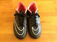 Black Nike Mercurial football boots for Astro/3G size uk 5.5