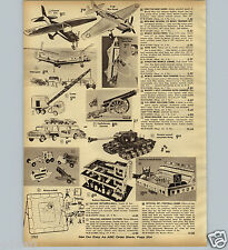 1963 PAPER AD Buddy L Car Carrier Remco Johnny Reb Cannon NFL Electric Football