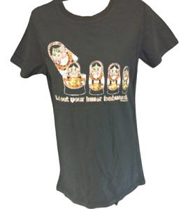 Womens David & Goliath Let Out Your Inner Babushka Nesting Doll Tee T-Shirt