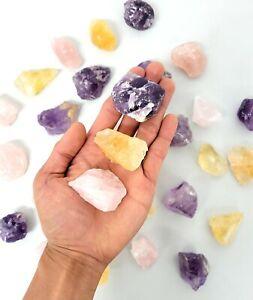 Citrine Amethyst Rose Quartz Crystals Set Natural Rough Stones Healing Crystals