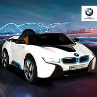 12V BMW I8 Power Electric Battery Kids Ride on Car 4 Speed w/ RC MP3 FM White