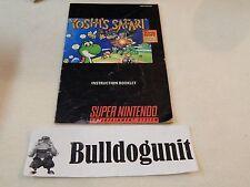 Yoshi's Safari Super Nintendo Snes Manual Only No Game No Super Scope