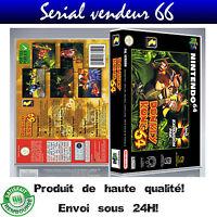 "Boitier du jeu ""DONKEY KONG 64"", nintendo 64, visuel PAL FR."