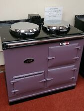 Aga Cooker - Fully Refurbished Two Oven 13 amp Aga in Heather with Chrome Lids
