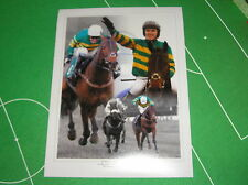 Fantastic Tony 'AP' McCoy Signed Mountain Tunes 4000th Winner Photo Montage