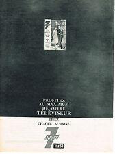 PUBLICITE ADVERTISING  1960   TELE 7 jours    mariage de Margaret