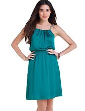 Brand NEW The Limited Women's Back-Tie Halter Dress Tropical Green Size S