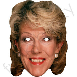 Sue Nicholls, Audrey Roberts Celebrity Card Mask - All Masks Are Ready To Wear