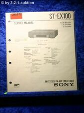 Sony Service Manual ST EX100 Tuner  (#2644)